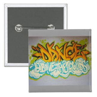 Dance above the Clouds Graffiti Button