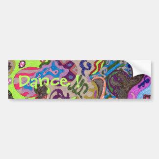 """""""Dance"""" Abstract Bumper Sticker"""