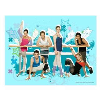 Dance Academy Cast Graphic Postcard