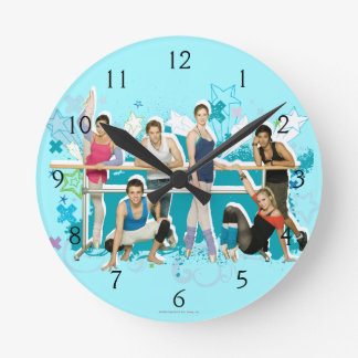 Dance Academy Cast Graphic Round Clock