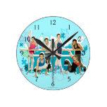 Dance Academy Cast Graphic Round Clocks