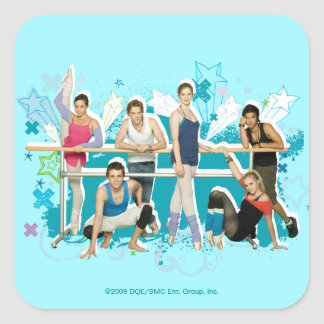 Dance Academy Cast Graphic Square Sticker