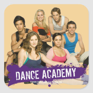 Dance Academy Cast Square Sticker