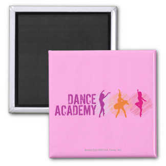 Dance Academy Color Dancers Logo Magnet