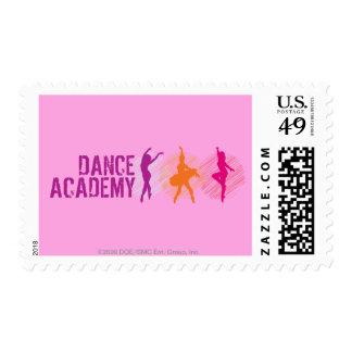 Dance Academy Color Dancers Logo Postage