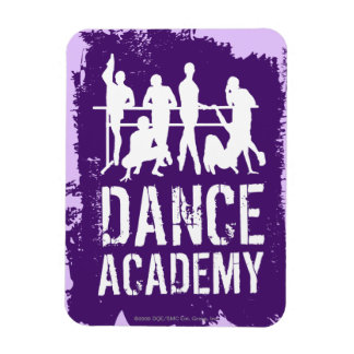 Dance Academy Silhouettes Logo Flexible Magnets
