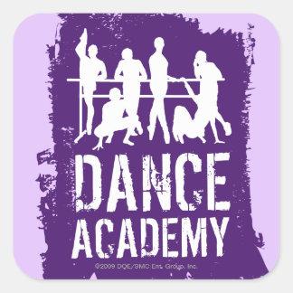 Dance Academy Silhouettes Logo Square Sticker