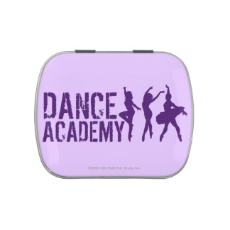 Dance Acadmey Dancer Silhouettes Logo Jelly Belly Candy Tin