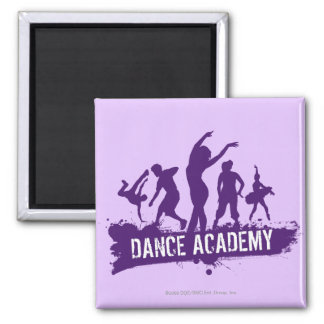 Dance Acadmey Dancer Silhouettes Logo Magnet
