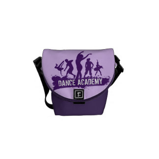 Dance Acadmey Dancer Silhouettes Logo Messenger Bag