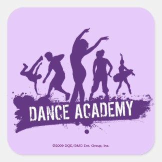 Dance Acadmey Dancer Silhouettes Logo Square Sticker