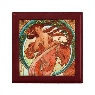 Dance Alphonse Mucha Art Nouveau Keepsake Box