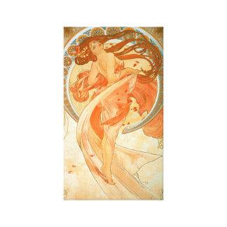 """""""Dance"""" -  Alphonse Mucha - Vintage Art Nouveau Canvas Print"""