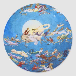 Dance Around the Moon by C. Doyle Classic Round Sticker