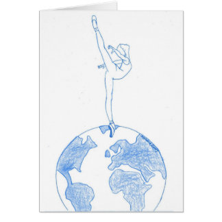 Dance around the world blue card