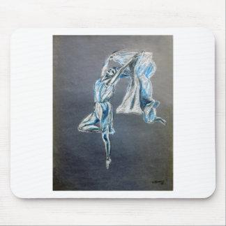 dance art  blue dancer art design mouse pad