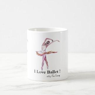 dance art, I Love Ballet,  Mug,  by Conway T.J. Classic White Coffee Mug
