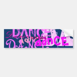 Dance Art In Pink Car Bumper Sticker