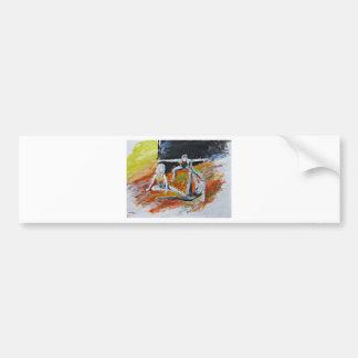 dance art print, figurative fine art by T J Conway Bumper Sticker