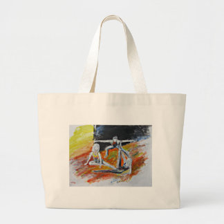 dance art print, figurative fine art by T J Conway Large Tote Bag