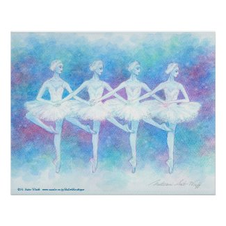 Dance art print of swan of four feathers
