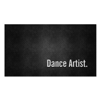 Dance Artist Cool Black Metal Simplicity Double-Sided Standard Business Cards (Pack Of 100)