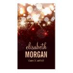 Dance Artist - Modern Glitter Sparkle Double-Sided Standard Business Cards (Pack Of 100)
