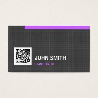Dance Artist- Simplicity Grid QR Code Business Card