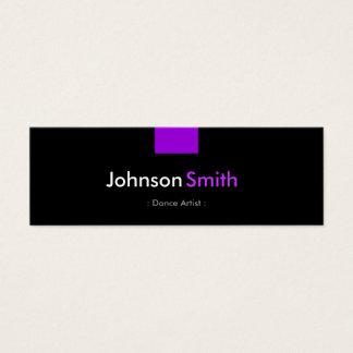 Dance Artist - Violet Purple Compact Mini Business Card