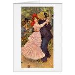 Dance At Bougival By Pierre-Auguste Renoir Card