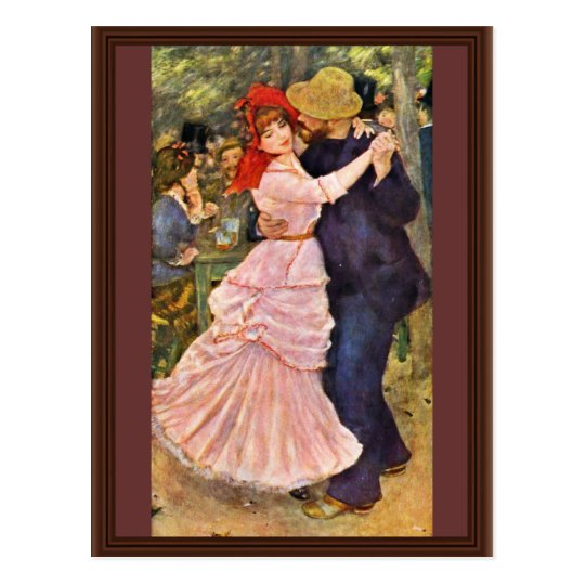 Dance At Bougival By Pierre-Auguste Renoir Postcard