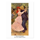Dance At Bougival By Pierre-Auguste Renoir Post Card