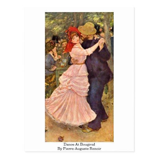 Dance At Bougival By Pierre-Auguste Renoir Post Card