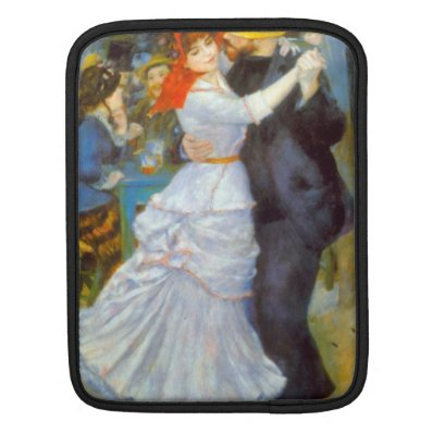 Dance at Bougival by Pierre Renoir iPad Sleeves