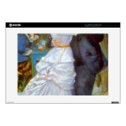 Dance at Bougival by Pierre Renoir Laptop Decal