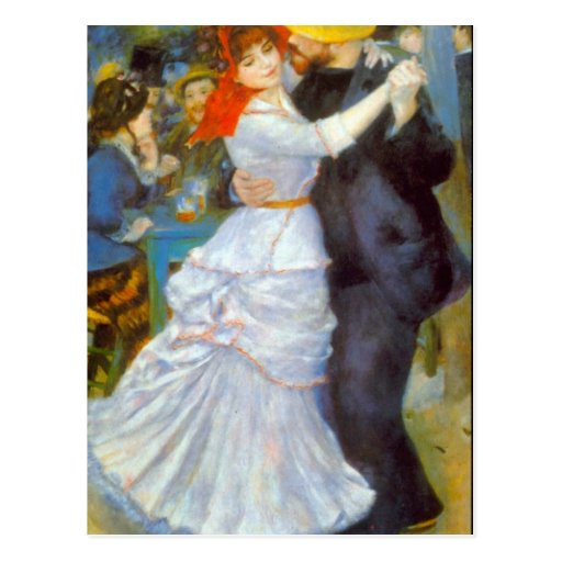 Dance at Bougival by Pierre Renoir Postcard