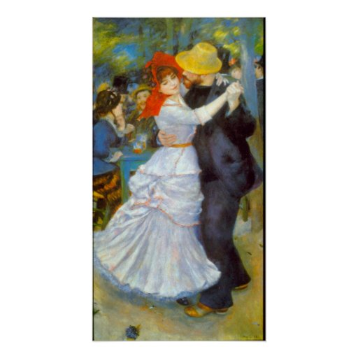 Dance at Bougival by Pierre Renoir Posters