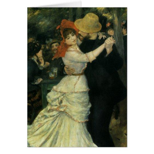 Dance at Bougival by Pierre Renoir, Vintage Art Card