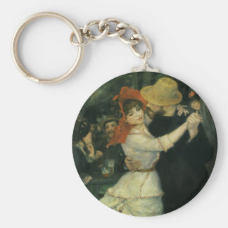 Dance at Bougival by Pierre Renoir, Vintage Art Keychain