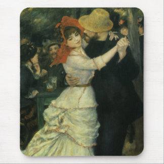 Dance at Bougival by Pierre Renoir, Vintage Art Mouse Pad