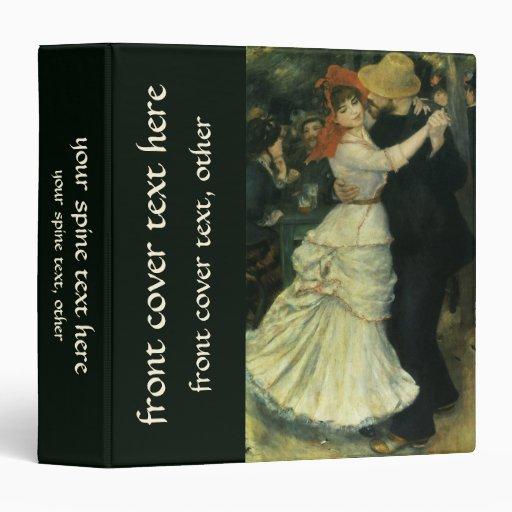 Dance at Bougival by Renoir, Vintage Impressionism 3 Ring Binders