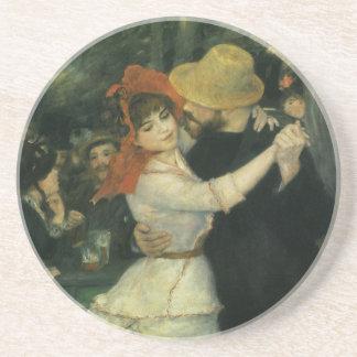 Dance at Bougival by Renoir Vintage Impressionism Beverage Coaster