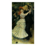 Dance at Bougival by Renoir, Vintage Impressionism Posters