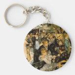 Dance at Le Moulin de la Gale by Renoir Key Chains