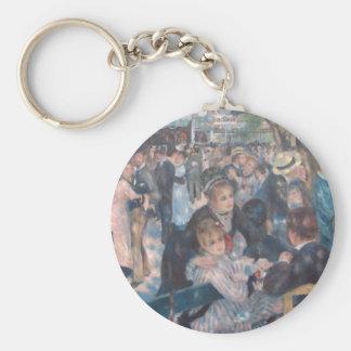 Dance at Le Moulin de la Galette Basic Round Button Keychain