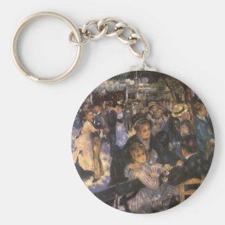 Dance at Le Moulin de la Galette by Pierre Renoir Basic Round Button Keychain
