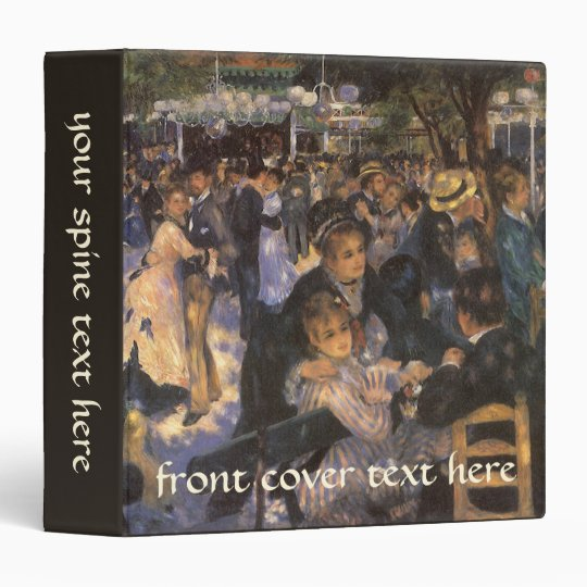 Dance at Le Moulin de la Galette by Pierre Renoir Binder