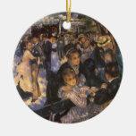 Dance at Le Moulin de la Galette by Pierre Renoir Ceramic Ornament