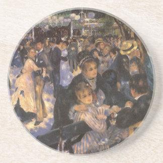 Dance at Le Moulin de la Galette by Pierre Renoir Drink Coaster