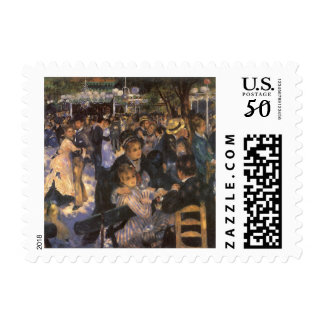 Dance at Le Moulin de la Galette by Pierre Renoir Postage